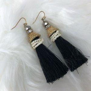 Beaded black earrings